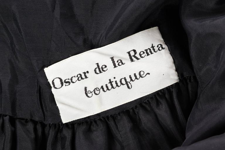 Rare Early 1970s Oscar De la Renta Cotton Floral Dress For Sale 5