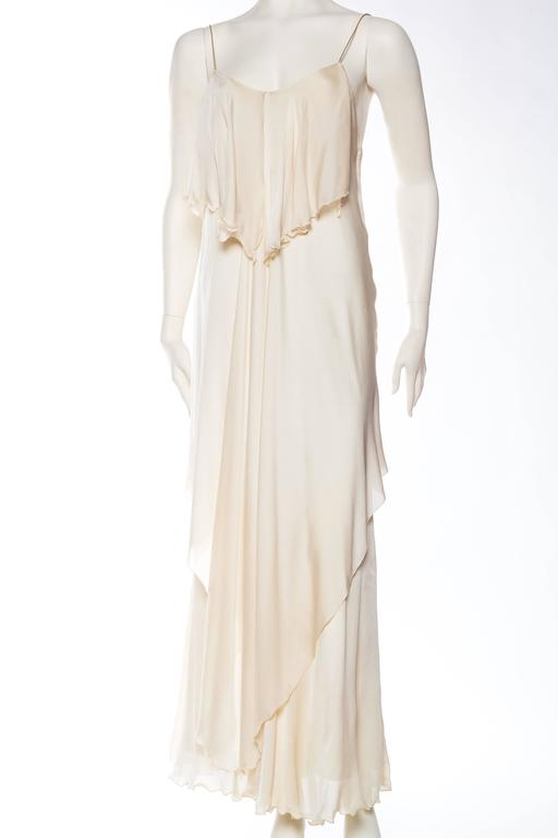 1970s Vicky Tiel Jersey and Chiffon Dress 2