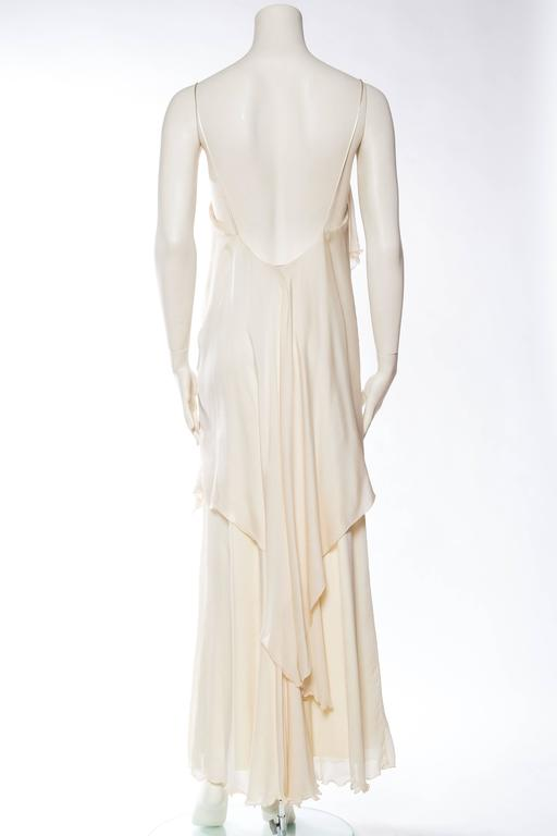 1970s Vicky Tiel Jersey and Chiffon Dress 5