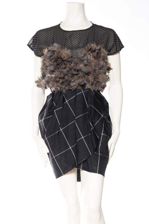 Very Finely Made Geoffrey Beene Feathered Dress 3