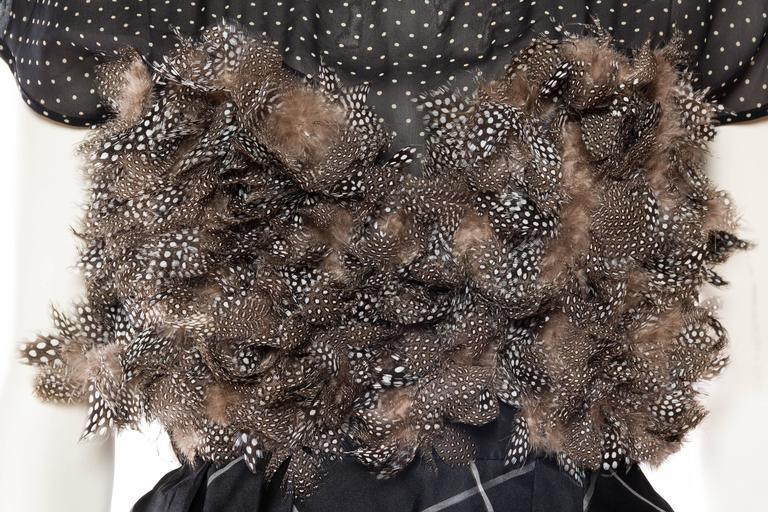 Very Finely Made Geoffrey Beene Feathered Dress 7