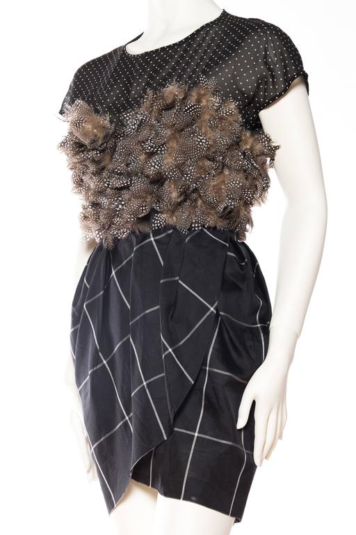 Very Finely Made Geoffrey Beene Feathered Dress 5