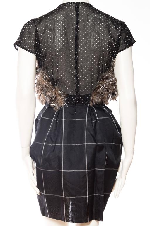 Very Finely Made Geoffrey Beene Feathered Dress 6