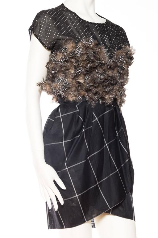 Very Finely Made Geoffrey Beene Feathered Dress 4