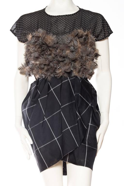 Very Finely Made Geoffrey Beene Feathered Dress 2
