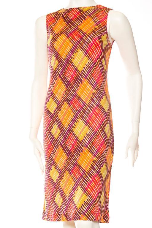 Orange Missoni Printed Jersey Dress For Sale
