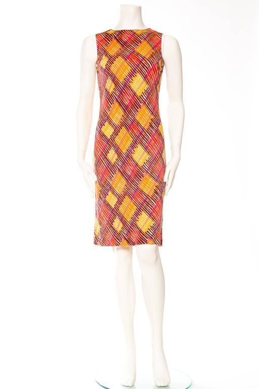 Missoni Printed Jersey Dress In Excellent Condition For Sale In New York, NY