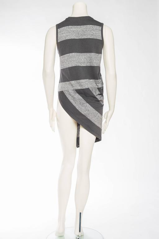 Early Issey Miyake  Draped Cotton Jersey T-Shirt For Sale 1