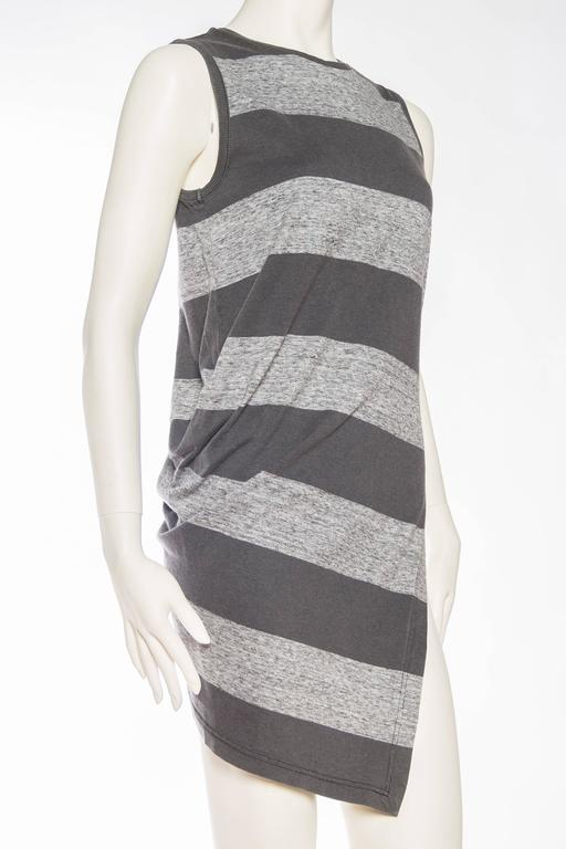 Early Issey Miyake  Draped Cotton Jersey T-Shirt In Excellent Condition For Sale In New York, NY