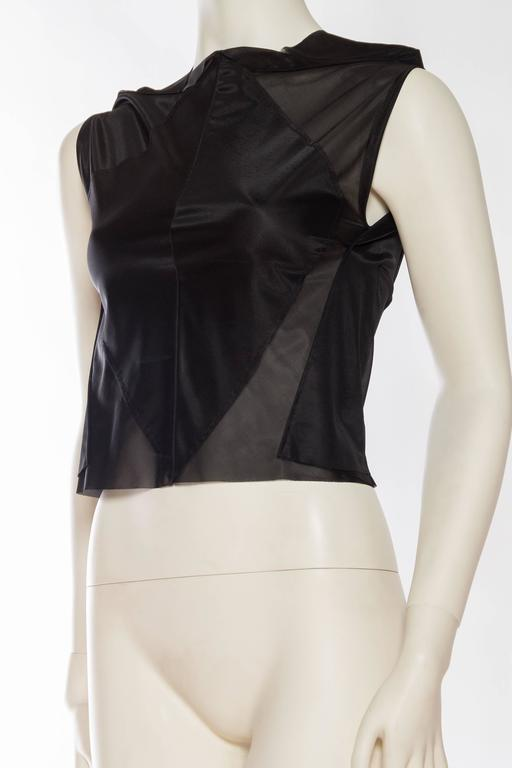 Martin Margiela Geometric Sheer Top In Excellent Condition For Sale In New York, NY