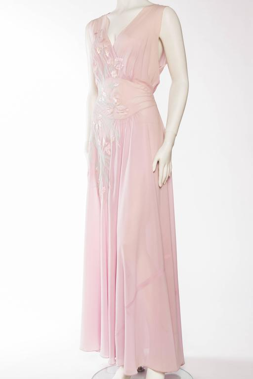 1930s Couture Silk Negligee Slip Dress In Excellent Condition For Sale In New York, NY