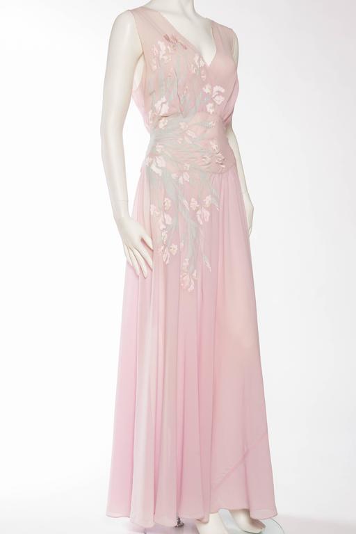 1930s Couture Silk Negligee Slip Dress 3