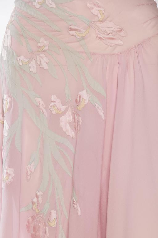 1930s Couture Silk Negligee Slip Dress 9