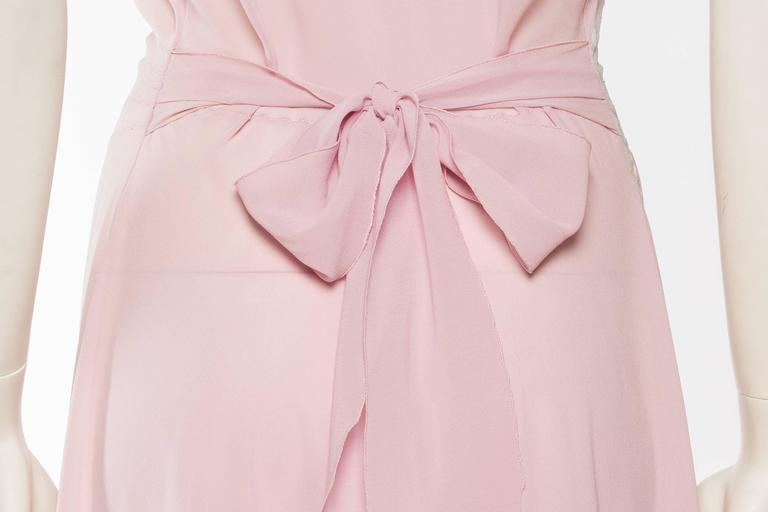 1930s Couture Silk Negligee Slip Dress 10