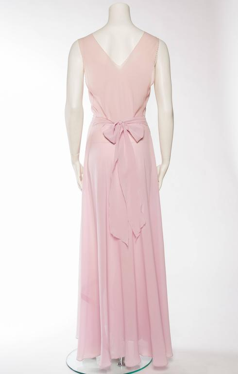 Women's 1930s Couture Silk Negligee Slip Dress For Sale