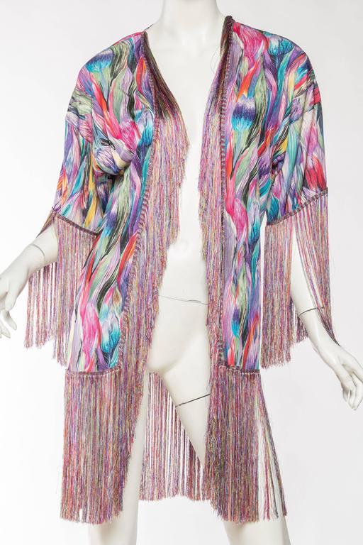 1970s Missoni Fringed Silk Jersey Kimono 3