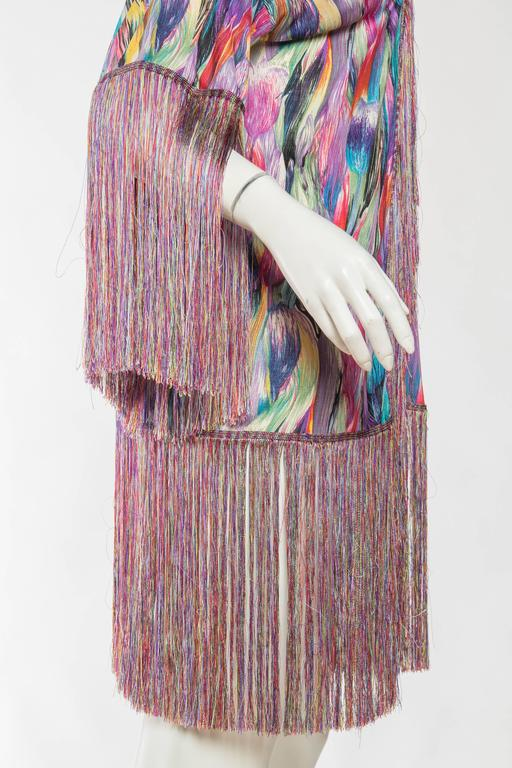 1970s Missoni Fringed Silk Jersey Kimono 9
