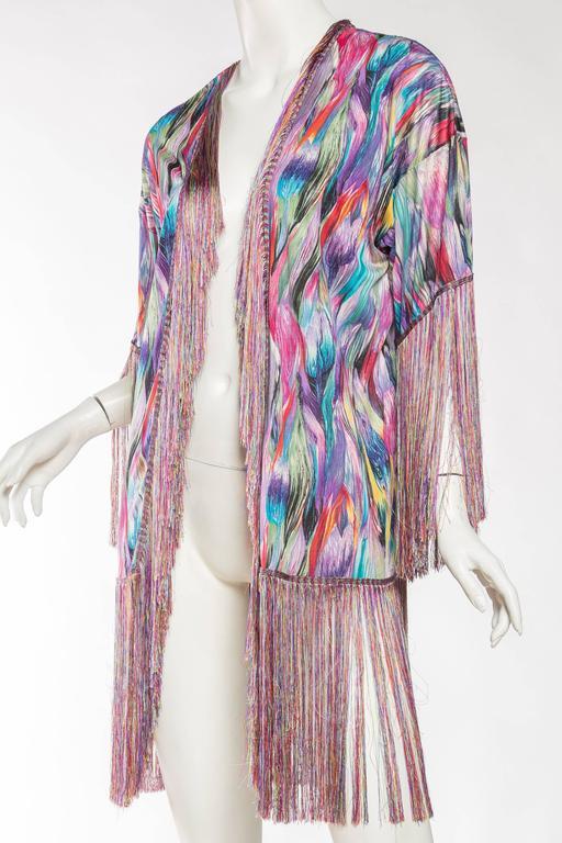 1970s Missoni Fringed Silk Jersey Kimono 5