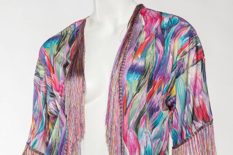 1970s Missoni Fringed Silk Jersey Kimono 7