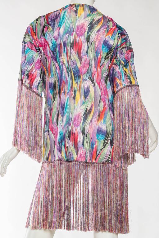 1970s Missoni Fringed Silk Jersey Kimono 6