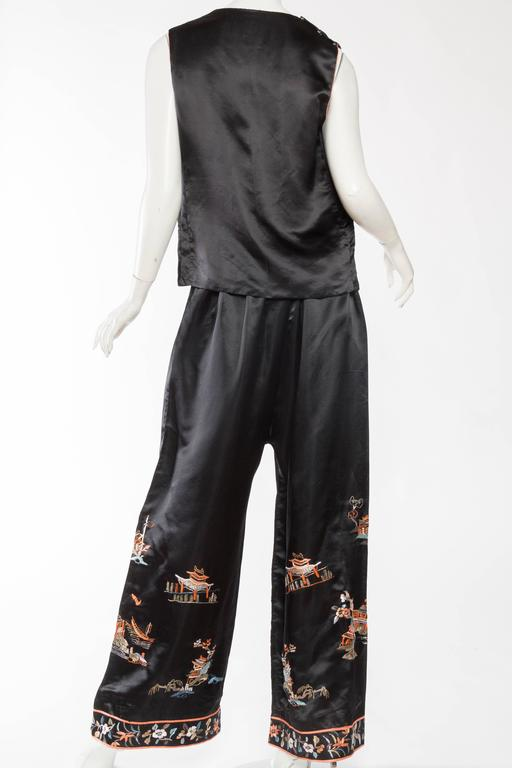 Women's Antique Silk Chinese Pjamas For Sale