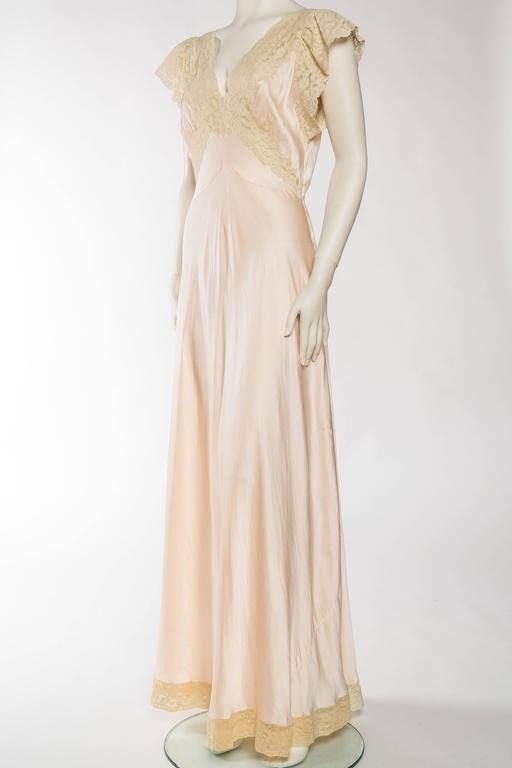 Women's Antique Bias Cut Silk Negligee For Sale