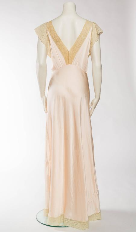 Antique Bias Cut Silk Negligee For Sale 1