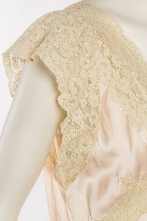 Antique Bias Cut Silk Negligee For Sale 3
