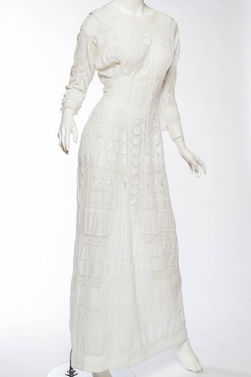 Vintage Watches For Sale >> Antique Cotton and Lace Edwardian Tea Dress For Sale at ...