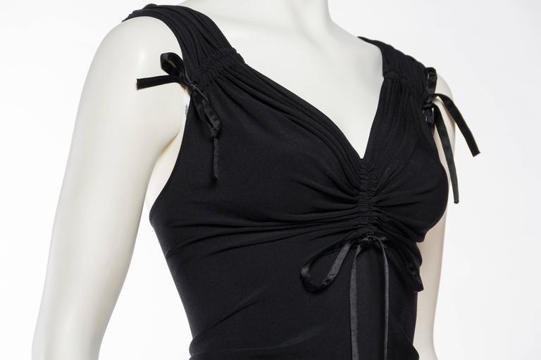 1990s Donna Karan Ruched Jersey Bodysuit For Sale 2