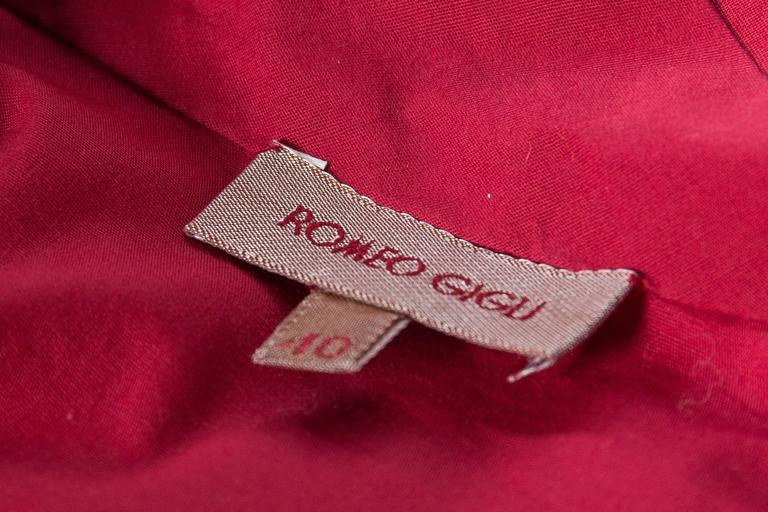 1990s Romeo Gigli Ruched Cotton Blouse 9