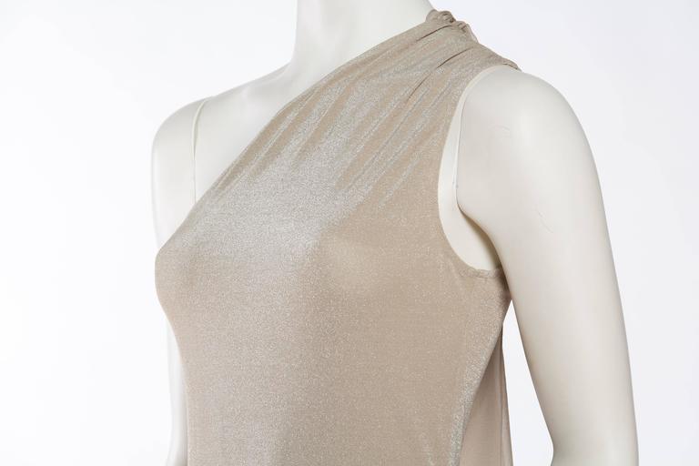 1990s Donna Karan Sparkle Bodysuit with Scarf For Sale 3