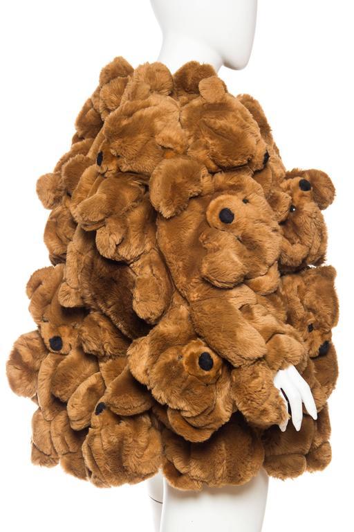 1980S JEAN CHARLES DE CASTELBAJAC Teddy Bear Coat For Sale 1