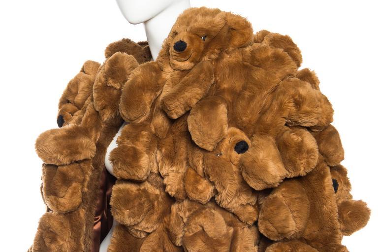 1980S JEAN CHARLES DE CASTELBAJAC Teddy Bear Coat For Sale 3