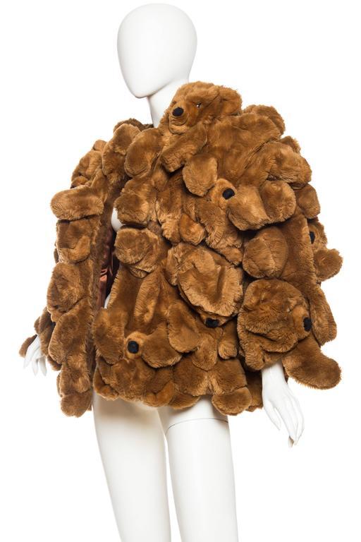 Women's or Men's 1980S JEAN CHARLES DE CASTELBAJAC Teddy Bear Coat For Sale