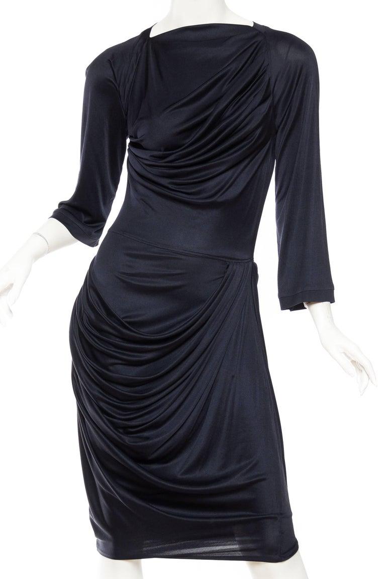 Alexander McQueen Sexy Jersey Dress in Navy.