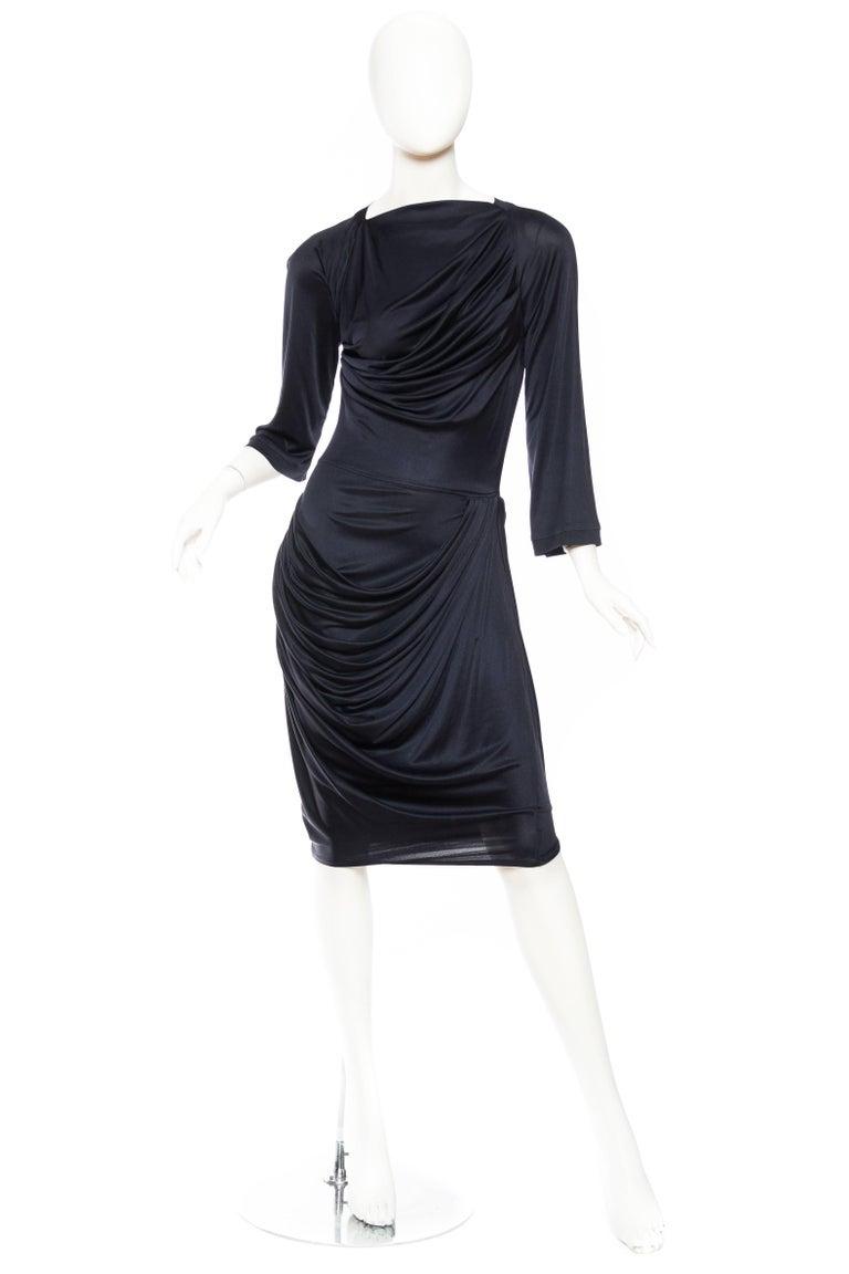 Black Alexander McQueen Sexy Jersey Dress For Sale