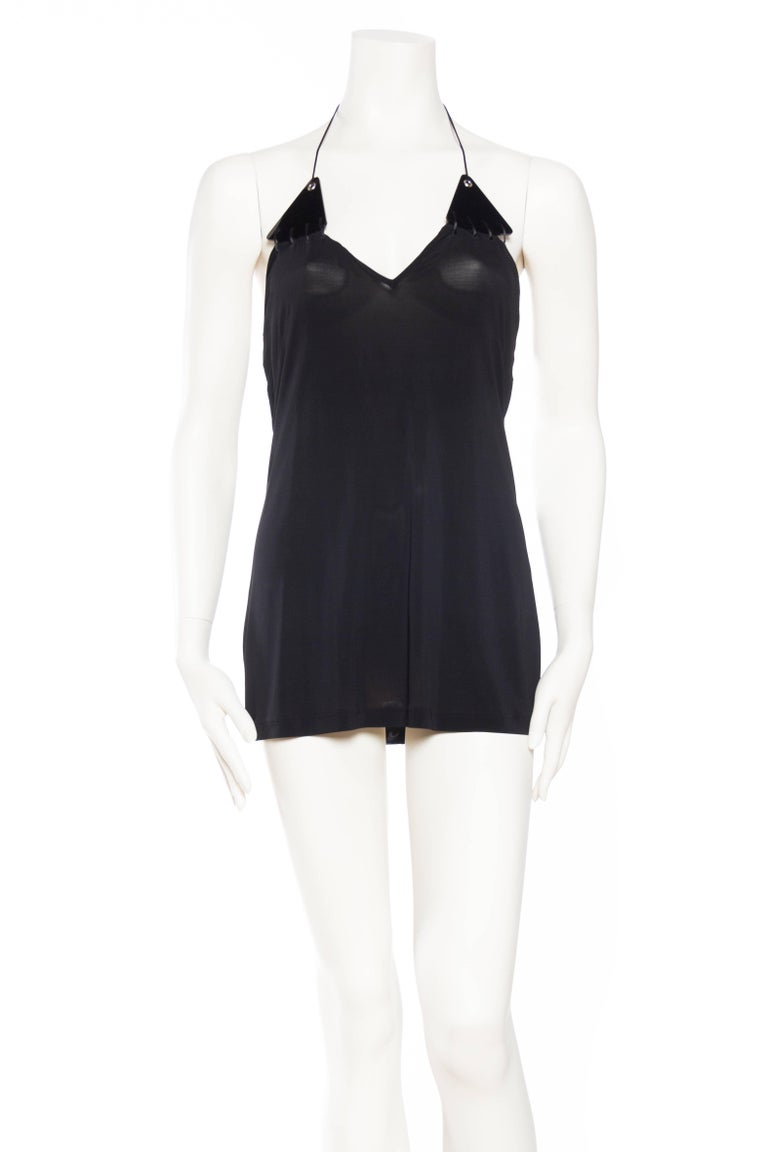 Paco Rabanne Backless Micro Mini Halter Dress In Excellent Condition For Sale In New York, NY