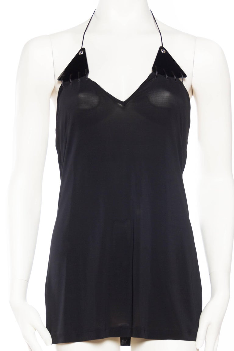 Black Paco Rabanne Backless Micro Mini Halter Dress For Sale