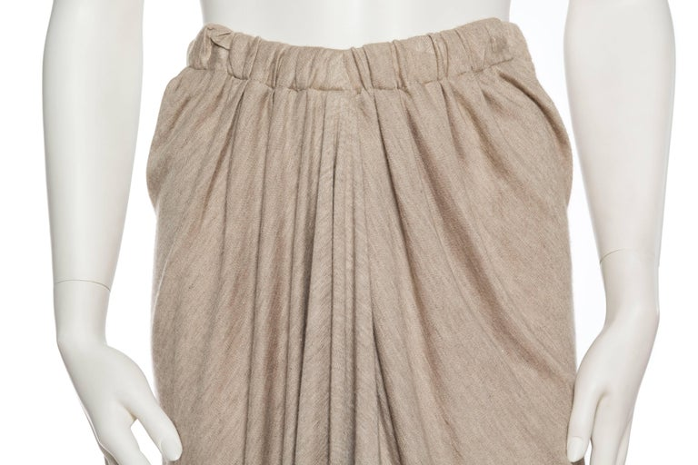 Donna Karan Draped Cashmere Skirt For Sale 2