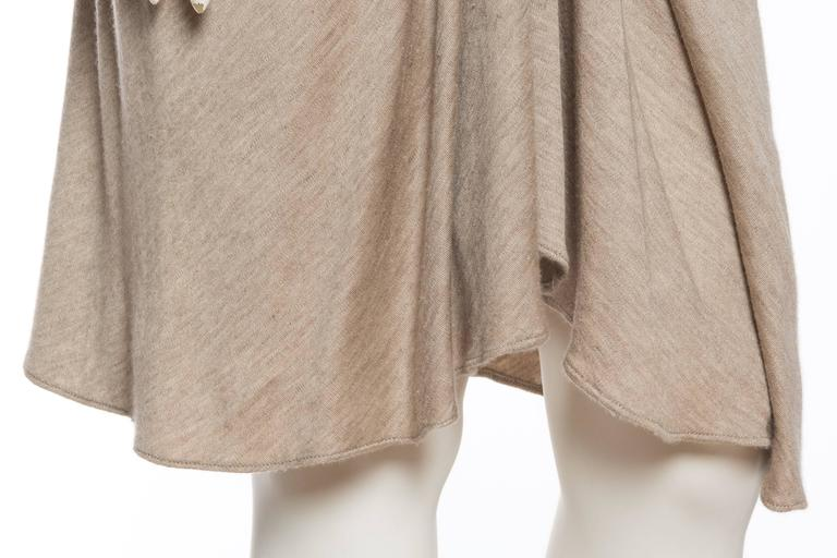 Donna Karan Draped Cashmere Skirt For Sale 3
