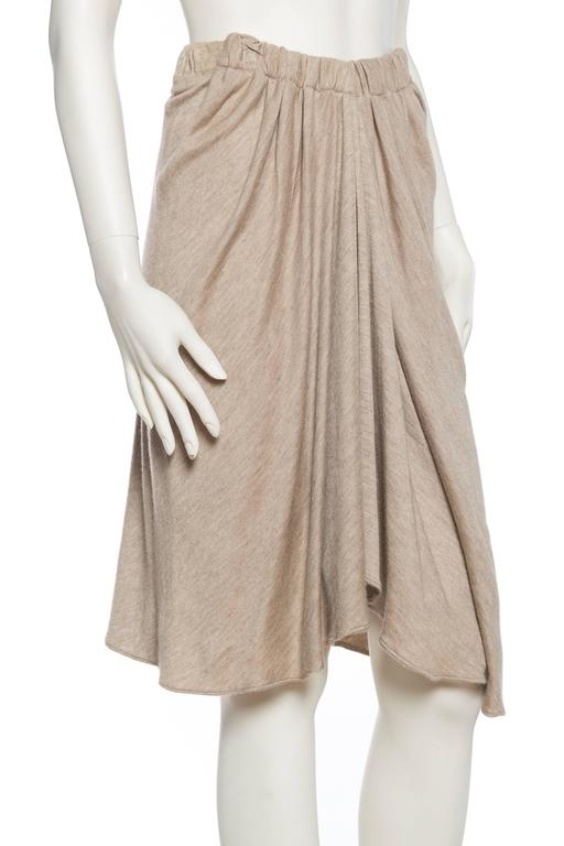 Donna Karan Draped Cashmere Skirt In Excellent Condition For Sale In New York, NY