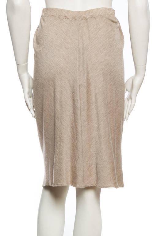 Donna Karan Draped Cashmere Skirt For Sale 1