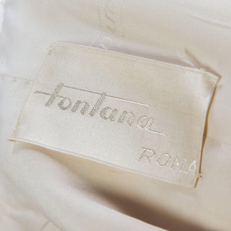 1950s Fontana Couture Beaded White Dress For Sale 1