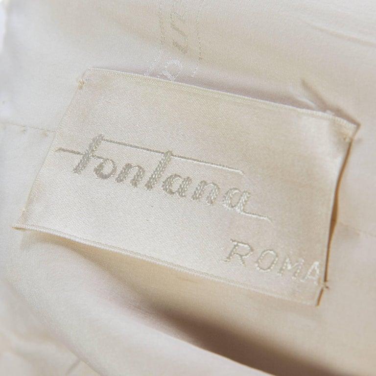 1950s Fontana Couture Beaded White Dress 4