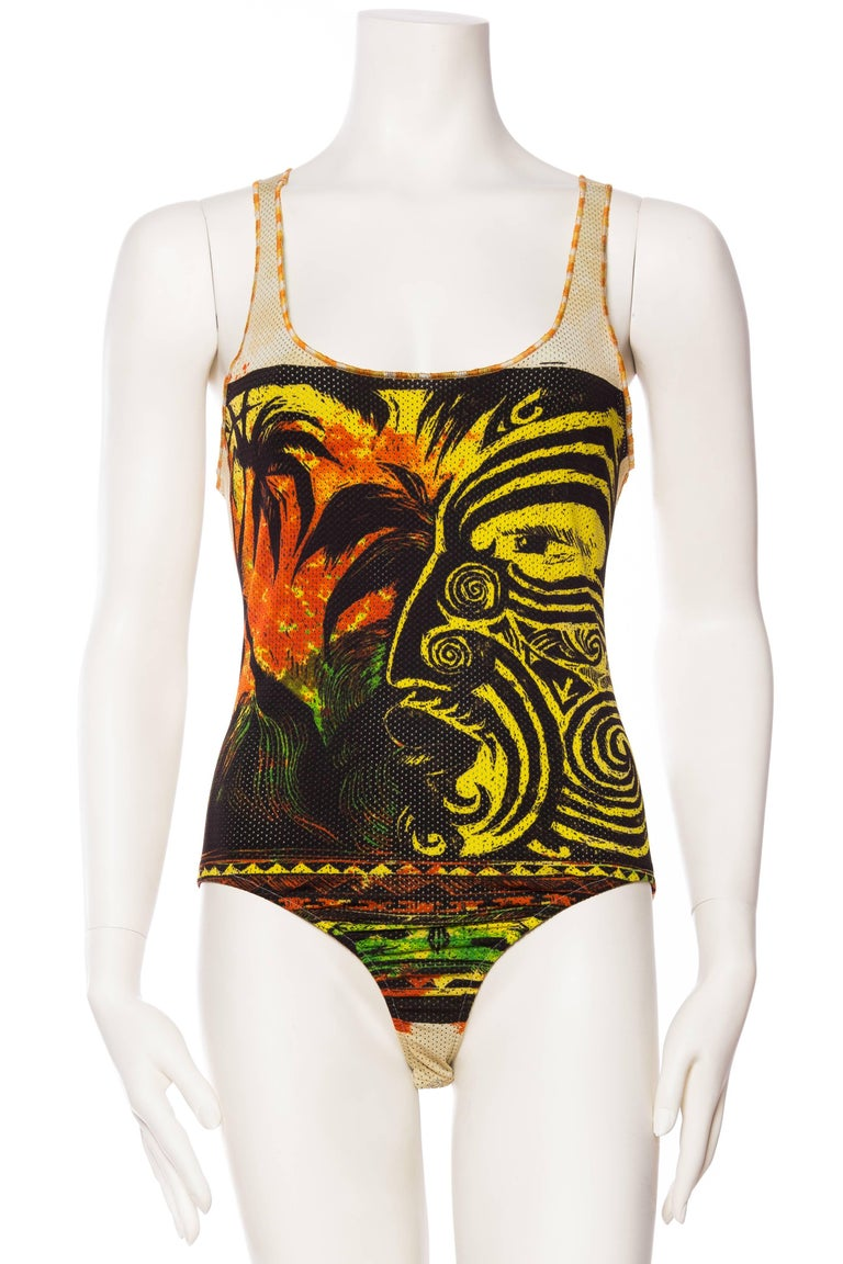 Jean Paul Gaultier Tribal Face Swimsuit 2