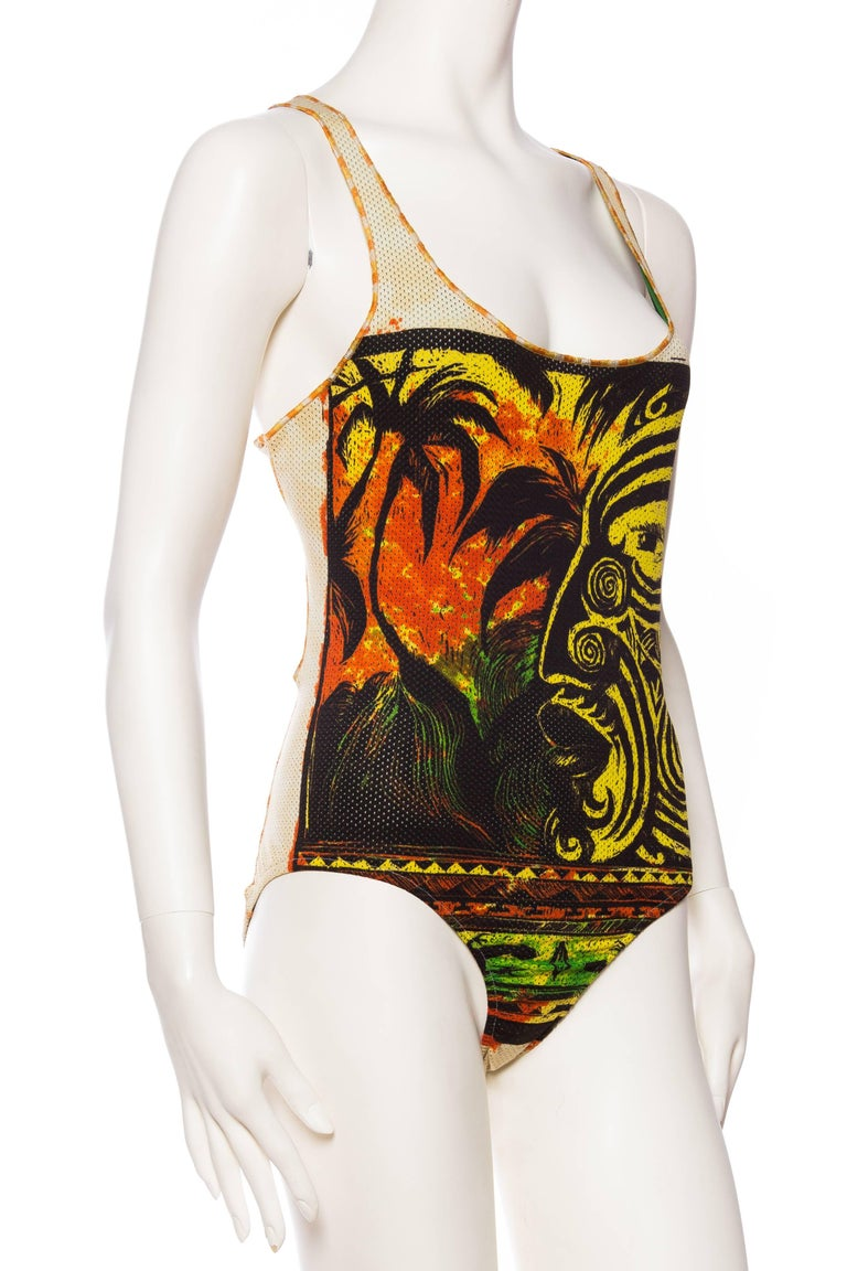 Jean Paul Gaultier Tribal Face Swimsuit 3