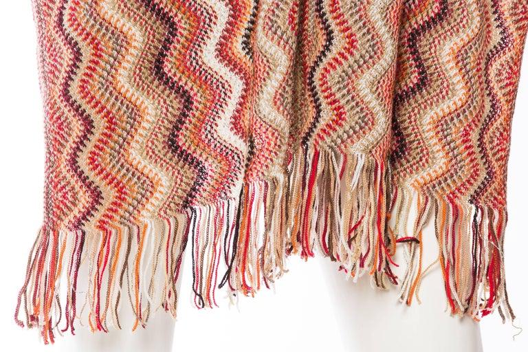 Missoni Iconic Zig Zag Knit Shawl For Sale At 1stdibs
