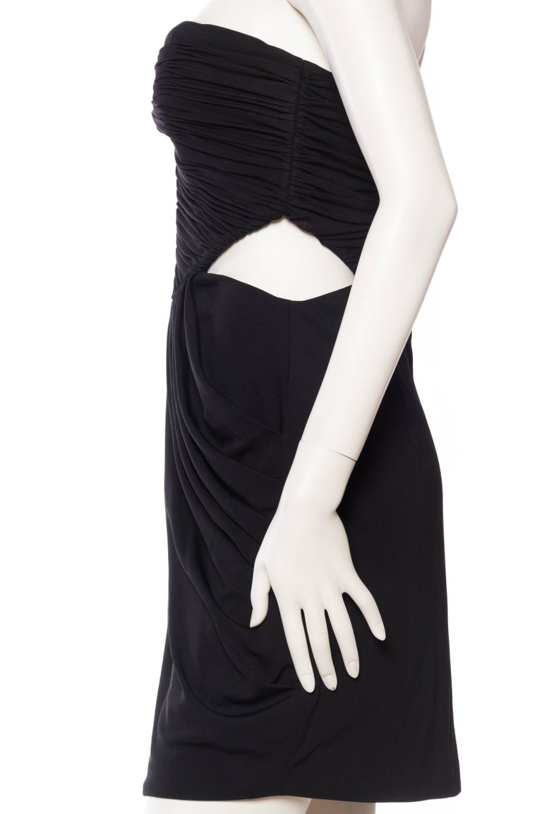 Women's Vicky Tiel Sexy Cut Out Jersey Dress For Sale