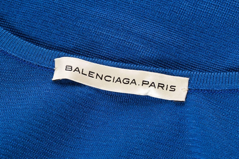 Balenciaga 1970s Style geometric Knit Top For Sale 5